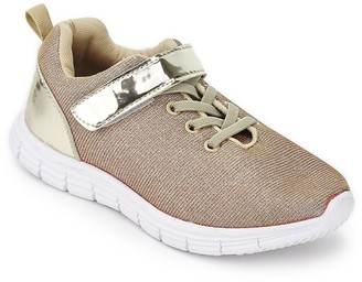 Jelly Beans Girls' Sneakers GOLD - Gold Fence Sneaker - Girls