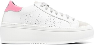 P448 Louise platform leather sneakers