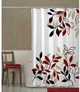 Satori Maytex Mills Fabric Shower Curtain, Red