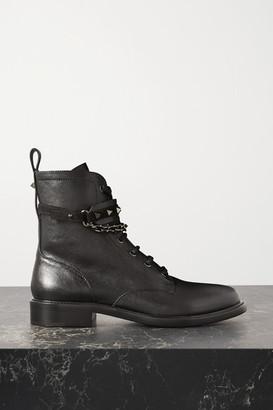 Valentino Garavani Rockstud 25 Leather Ankle Boots - Black