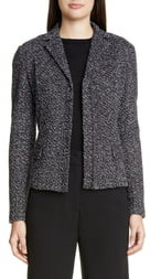 St. John Textured Wool Blend Boucle Jacket