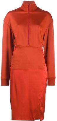 Fenty by Rihanna Dual-fabric tracksuit dress