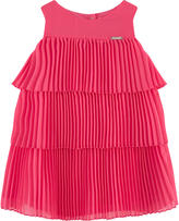 Mayoral Pleated dress with flounces
