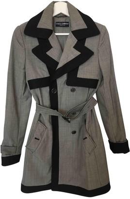 Dolce & Gabbana Grey Cotton Trench Coat for Women