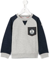 Moncler chest pocket sweatshirt - kids - Cotton - 4 yrs