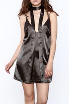 Ecru Silky Slip Dress
