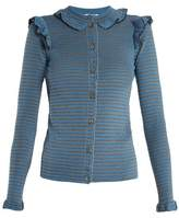 Sonia Rykiel Striped ribbed cotton-blend cardigan