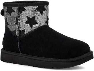 UGG Women's Casual boots BLACK - Black Sequin Star Classic Mini Suede Boot - Women