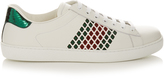 Gucci Laser-cut low-top leather trainers