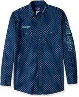 Wrangler Men's Tall Size Long Sleeve Western Logo Shirt
