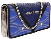 Versace EE3VOBPK1 EMAF Blue/Black Wallet On A Chain