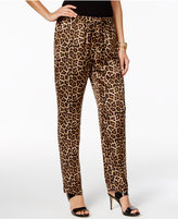 Michael Kors MICHAEL Micheal Kors Animal-Print Soft Pants, A Macy's Exclusive
