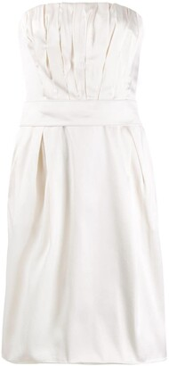 Dolce & Gabbana Pre-Owned 1990's Strapless Pleated Detailed Dress