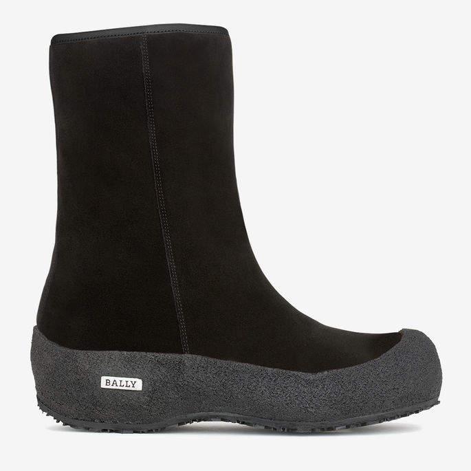 Bally Carde Black, Women's suede boot in Black