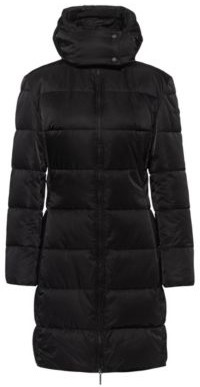 HUGO BOSS Baffle-quilted hooded jacket in water-repellent recycled fabric