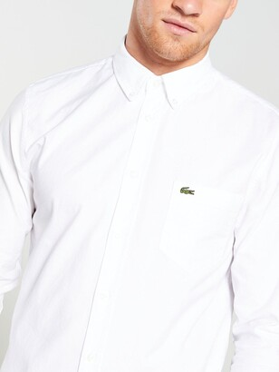 Lacoste Sportswear Long Sleeved Oxford Shirt - White