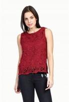 Select Fashion Fashion Womens Purple Crochet Lace Vest - size 6