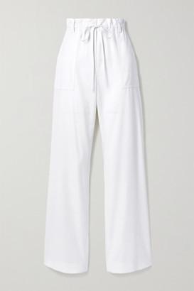 Tom Ford Wool-twill Wide-leg Pants - White