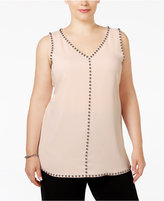 Alfani Plus Size Studded Sleeveless Tunic Blouse, Only at Macy's