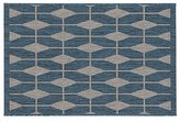 Crate & Barrel Aldo Blue Indoor-Outdoor 2'x3' Rug