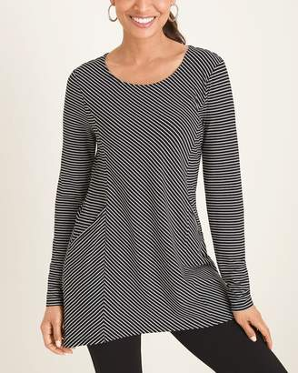 Chico's Chicos Striped Front Pocket Tunic