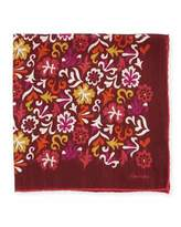 Tom Ford Floral-Print Pocket Square
