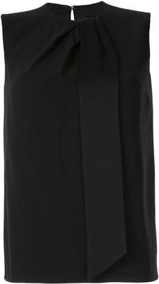 Paule Ka draped sleeveless blouse