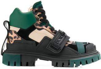 Dolce & Gabbana Trekking logo strap boots