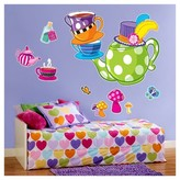 BuySeasons Topsy Turvy Tea Party Giant Wall Decal