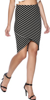 Iris Striped Wrap Skirt