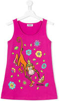 Moschino Kids monkey tank top