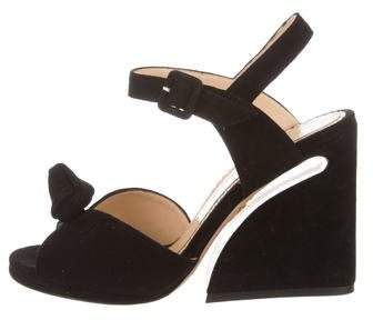 Charlotte Olympia Vega Knot-Accented Sandals w/ Tags