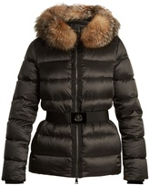 Moncler Tatie hooded fur-trimmed quilted down coat