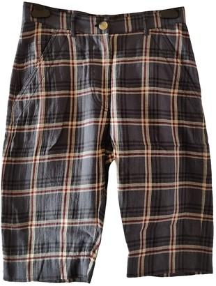 Etoile Isabel Marant Navy Cloth Shorts for Women