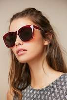 Urban Outfitters Brea Oversized Rectangle Sunglasses