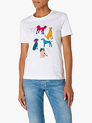 Paul Smith Dog Quotes T-Shirt, White