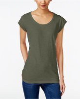 Style&Co. Style & Co Petite Scoop-Neck T-Shirt, Only at Macy's
