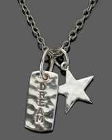 Sterling Silver Dream Dog Tag & Star Pendant