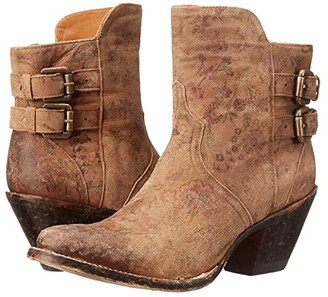 Lucchese Catalina (Brown Floral Print) Cowboy Boots