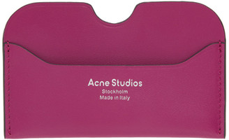 Acne Studios Pink Logo Card Holder
