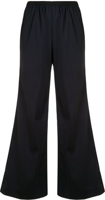 GOODIOUS Cropped Wide-Leg Trousers