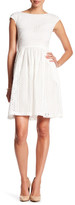 Donna Morgan D4281M Cap Sleeve Fit and Flare Dress