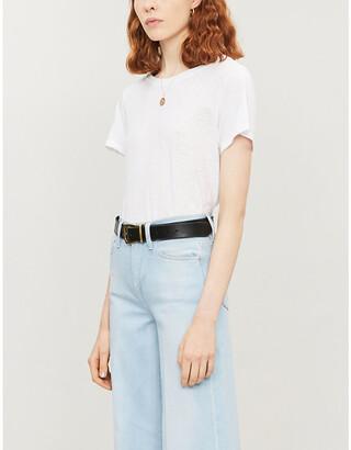 Paige Ellison round-neck cotton and modal-blend T-shirt
