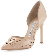 Charles David Contessa Laser-Cut d'Orsay Pump, Nude