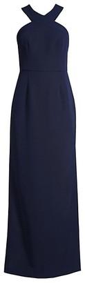 Trina Turk Jazzy Ace Halterneck Column Gown