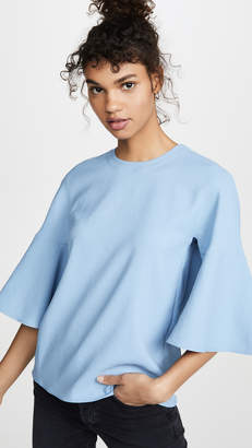Tibi Ruffle Sleeve Top