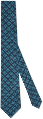 Gucci GG diamond print viscose tie