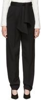 Lanvin Black Tie Waist Trousers