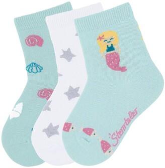 Sterntaler Baby Girls' Sockchen 3er-pack Meerjungfrau Calf Socks