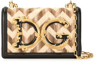 Dolce & Gabbana Baroque Logo Shoulder Bag